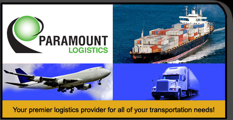 Paramount Logistics Logo with Transportation pictures